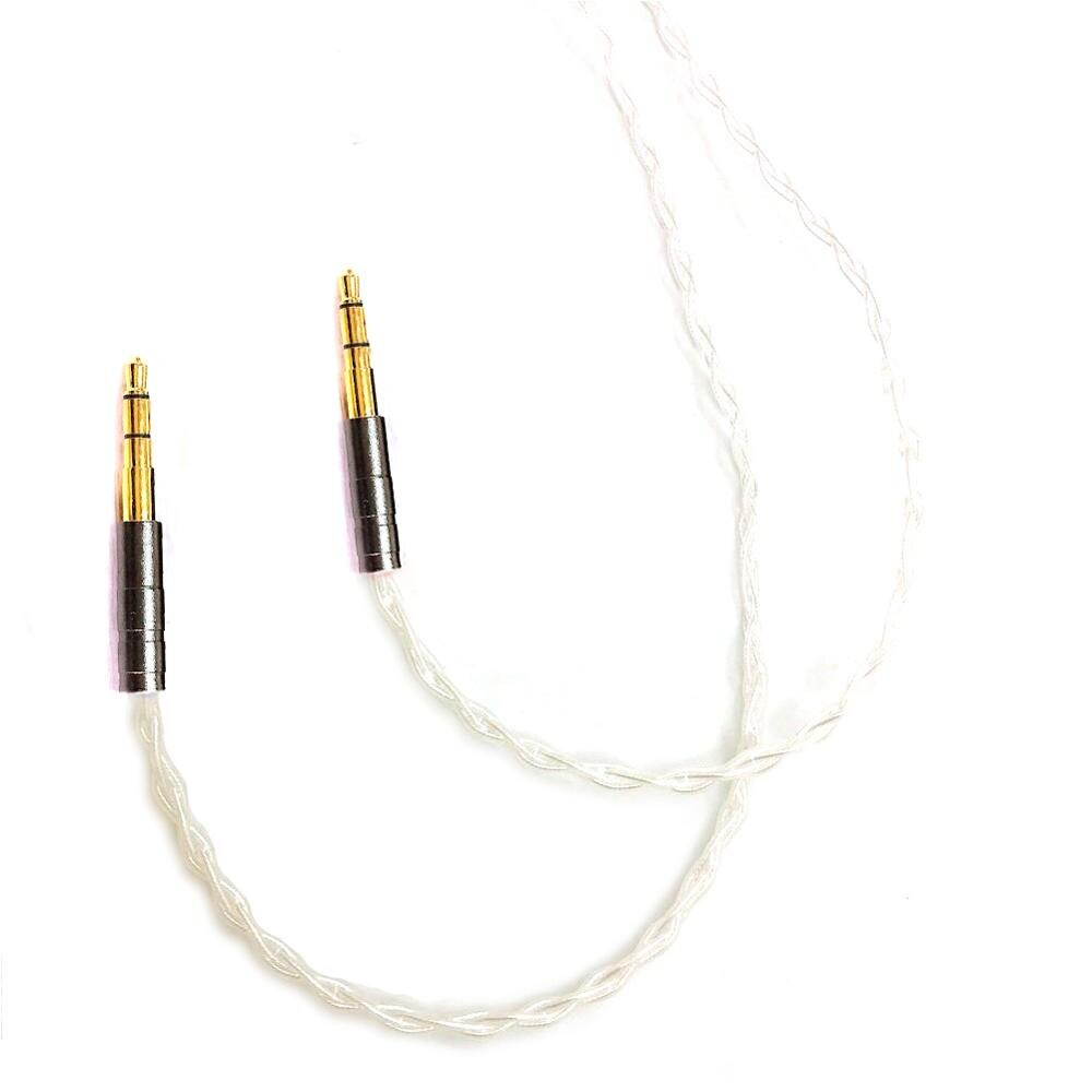 TOP-HiFi  1.2m  7N OCC Silver Plated Headphone Upgrade Cable for Sundara Aventho focal elegia T1 T5p D7200 MDR-Z7 Headphones enlarge