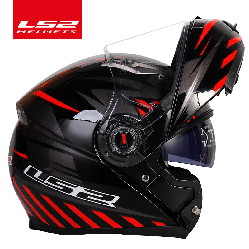 خوذات واقية مزدوجة LS2 من كابو موتو rcycle خوذة ls2 ff370 حاصلة على شهادة casco moto ECE