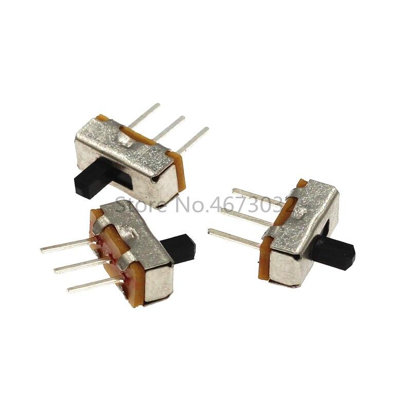20 piezas interruptor de palanca SS12D00 interruptor DIP deslizante 3 pines SS12D00G3 el interruptor de alimentación vástago Manual 3mm