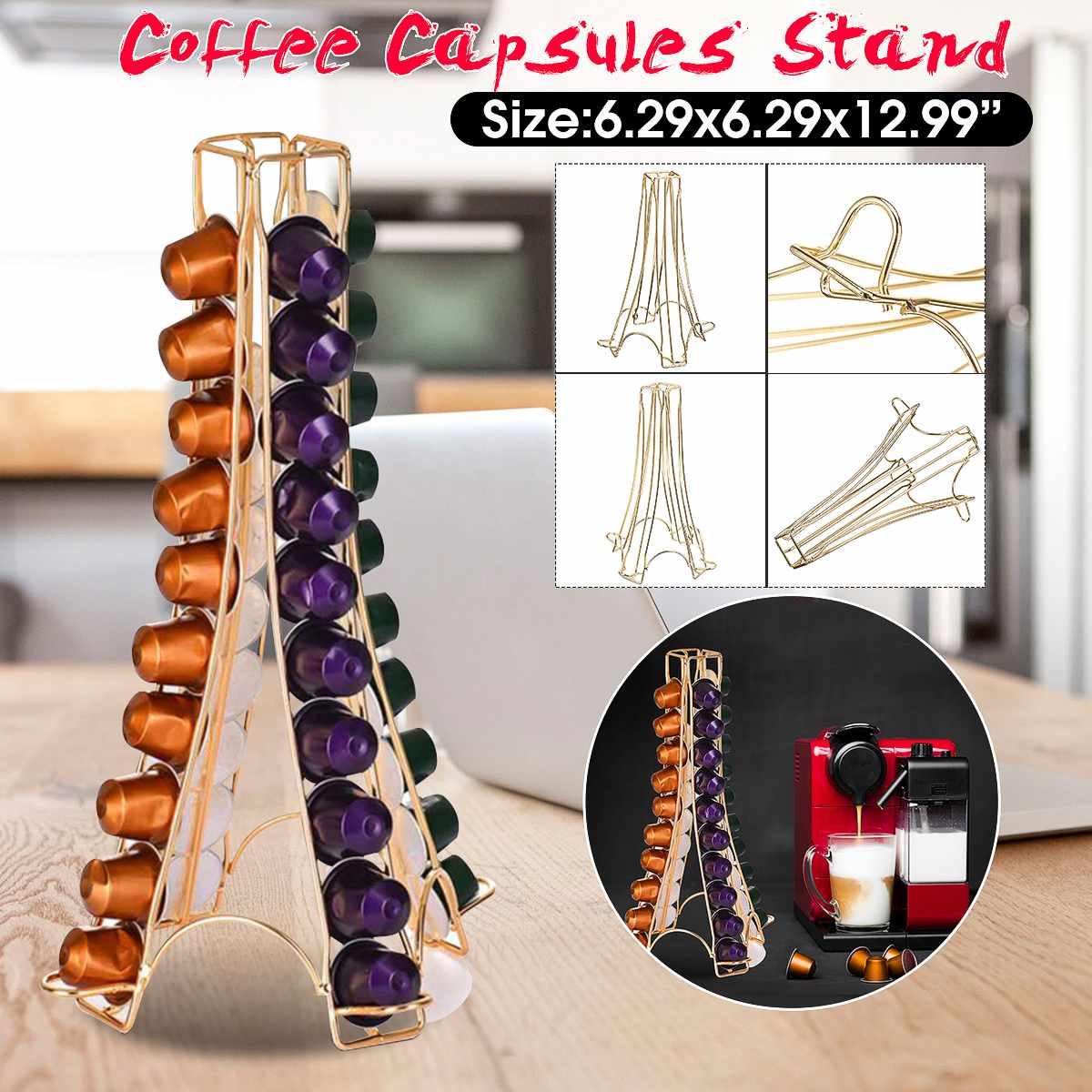 Soporte para cápsulas de café Nespresso, soporte de Torre dispensadora de 40 cápsulas, almacenamiento de cápsulas de café
