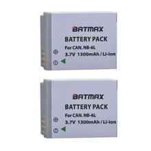 2 pièces NB-6L NB 6L NB6L Batteries Pour Canon IXUS 310 SX275 SX280 SX510 200 105 210 300 S90 S95 SD1300 SD1200 SX240 HS SX500 EST