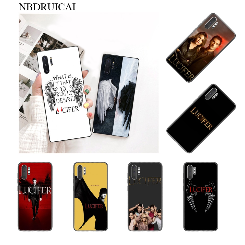 NBDRUICAI Hot American TV Degenerate angel Lucifer Phone Case for Samsung Note 3 4 5 7 8 9 10pro A7 2018 A10 A40 A50 A70 J7 2018