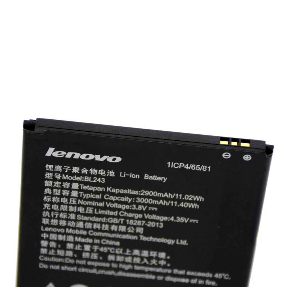20pcs/lot Original Battery BL243 For Lenovo K3 Note K50-T5 A7000 A5500 A5600 A7600-M Rechargeable Batteria akku In Stock 3000mAh enlarge