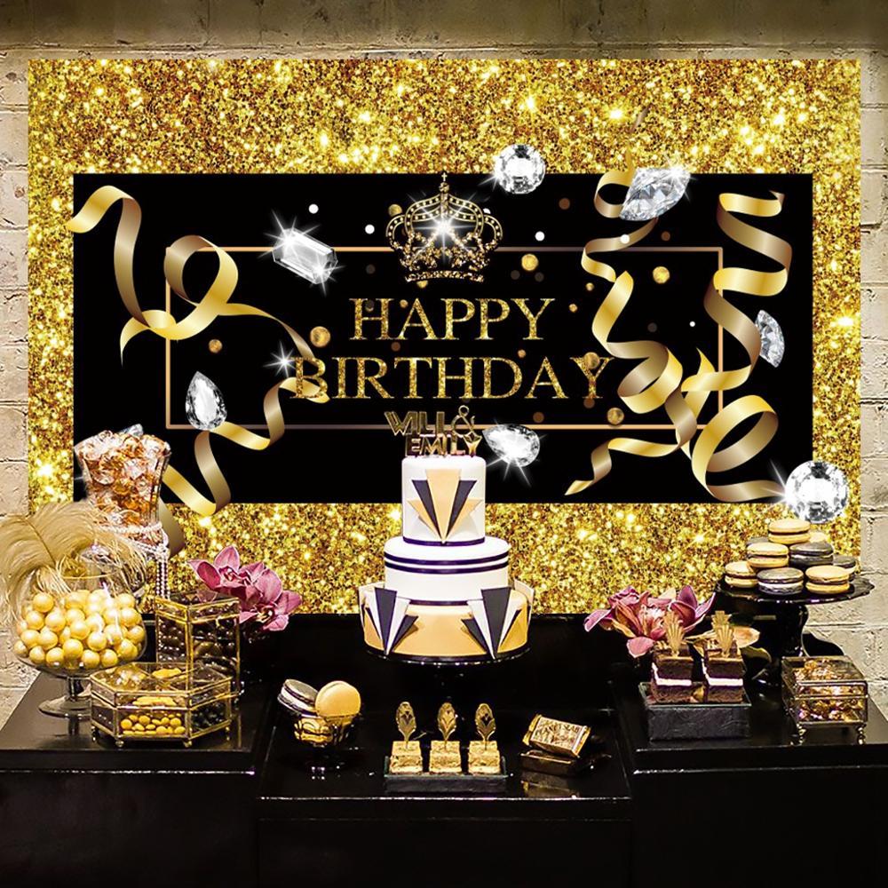 Huiran globos de marco de fotos de oro negro 30 40 50 años saludos a 30 años cumpleaños 30 40 50 decoración de fiesta con diseño de feliz cumpleaños