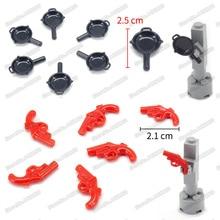 Military Weapons Red Signal Gun Black Saucepan Building Blocks  ww2 Pubg Set Figures Army Equipment Moc Child Christmas Gift Toy