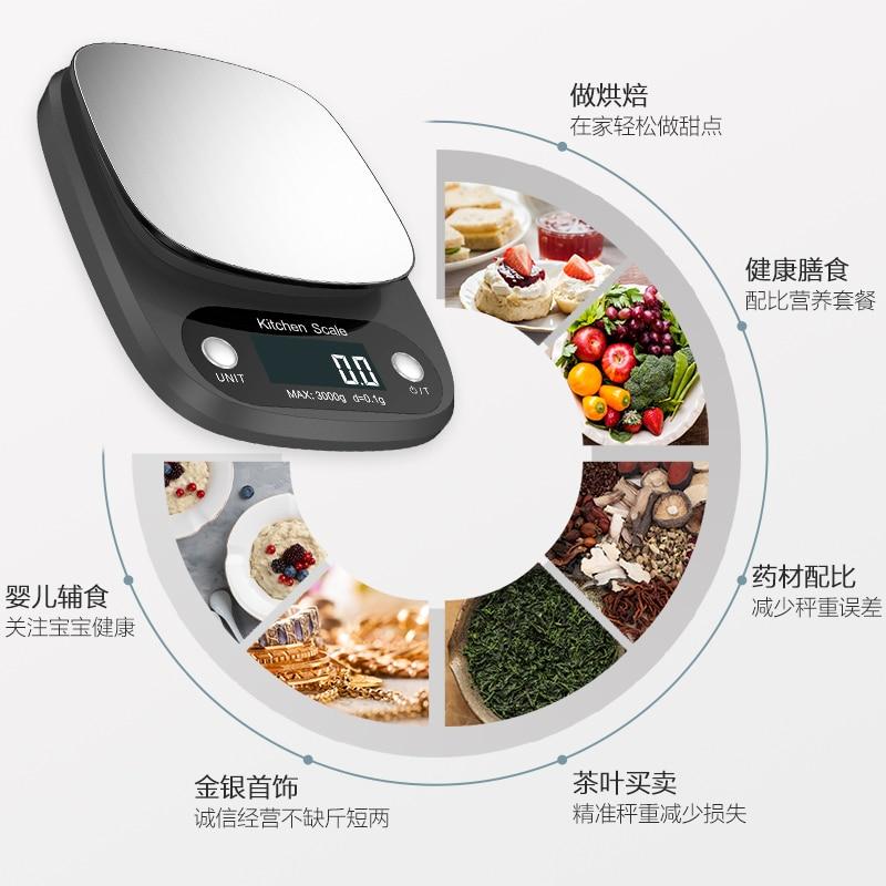 Micoe ميزان إلكتروني مقياس المطبخ المنزلية المحمولة الصغيرة عالية الدقة الخبز الغذاء غرام الوزن الدقة مقياس 0.1G