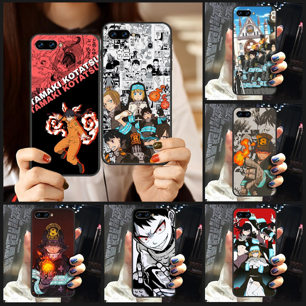 Anime Fire Force Phone Case Cover Hull For HUAWEI honor 8 8c 8a 8x 9 9a 9x V10 MATE 10 20 I lite pro black shell fashion hoesjes