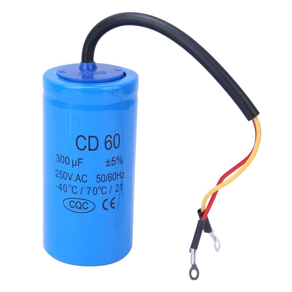 Capacitor de arranque para Motor AC, Capacitor de arranque CD60 250V 300uf, Capacitor de conmutación a prueba de explosiones