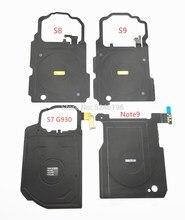 1 pièces sans fil panneau de charge pièces module câble flexible pour Samsung Galaxy S7 S8 S9 edge Plus Note 8 9 Note9 pièces de rechange