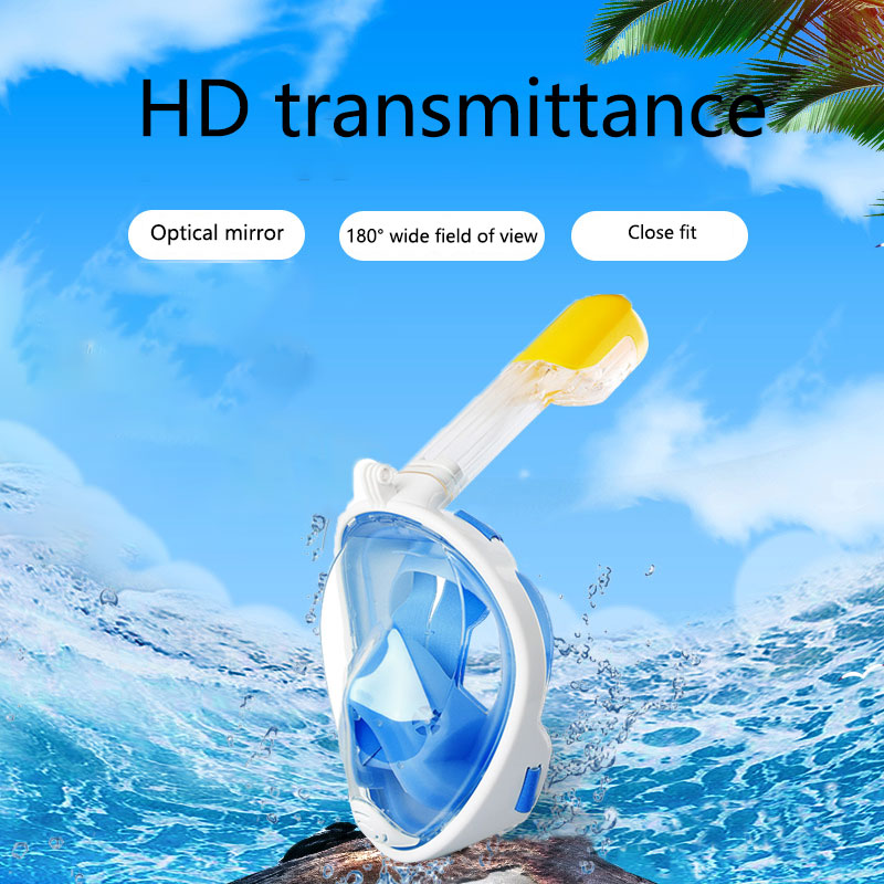 Underwater Scuba Anti Fog Full Face Diving Mask Snorkeling Respiratory Masks Safe Waterproof Swimming Equipment for Adult Youth underwater scuba anti fog full face diving mask snorkeling respiratory masks safe waterproof swimming equipment for adult youth