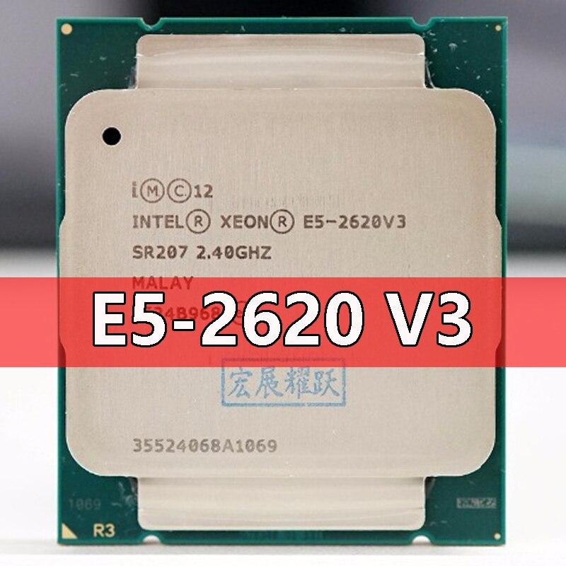 Процессор Intel Xeon E5 2620 V3 CPU 2,4G Serve LGA 2011-3 E5-2620 V3 2620V3 PC настольный процессор CPU для материнской платы X99