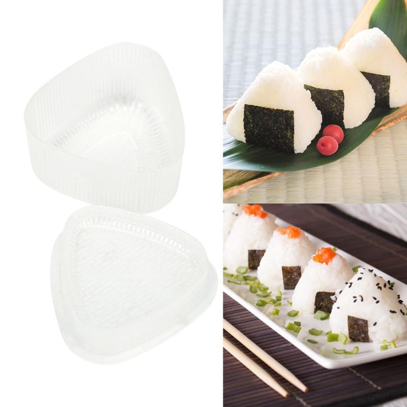 2X Sushi Onigiri Mold Decor Reis Ball Maker Kunststoff Dreieckige Form Food Grade # #