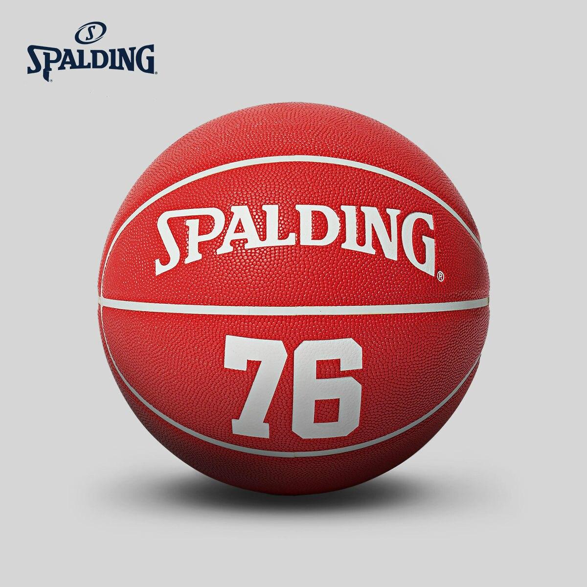 Original SPALDING Standard  Red Basketball PU No. 7 Men Basketbol Ball 76-705Y Baloncesto basketball