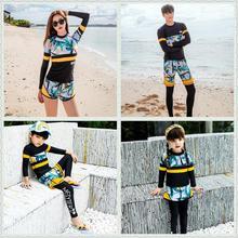 2020 koreanische Mode mutter/vater und tochter badeanzug familie spiel kid/männer/frauen UV rash guard bademode surf badeanzug