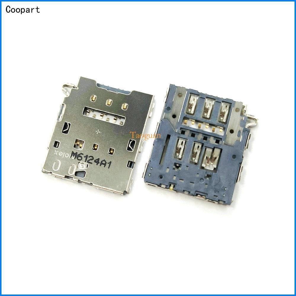 2pcs/lot Coopart New SIM card Socket Holder Tray Slot for Google Pixel 2 XL HTC Nexus S1 M1 high quality