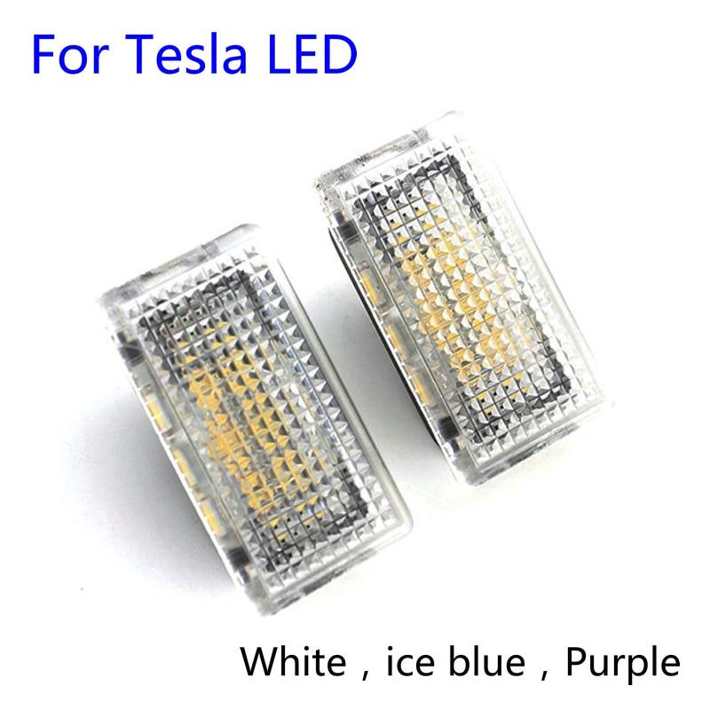 2 шт. для Tesla Model 3 X S 2014-2018 аксессуар для автомобиля светодиодный фонарь для двери багажник Boot Footwell лампы бардачок индикатор освещения