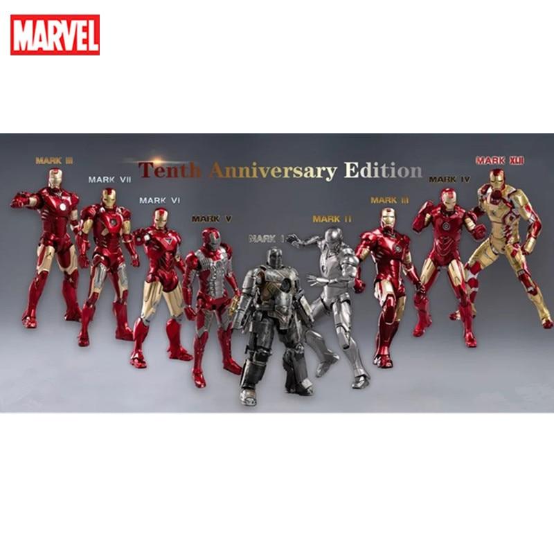 marvel wearable iron man mk5 voice activated deformation helmet Marvel Avengers Heroes 7-inch Iron Man Mark Armor Series MK1 MK2 MK3 MK4 MK5 MK6 MK7 MK8 Movie Action Figure Model Disney Toy