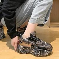 women sneakers black designer shoes woman autumn winter trainers chunky sneakers fashion light dad shoe ladies platform footwear