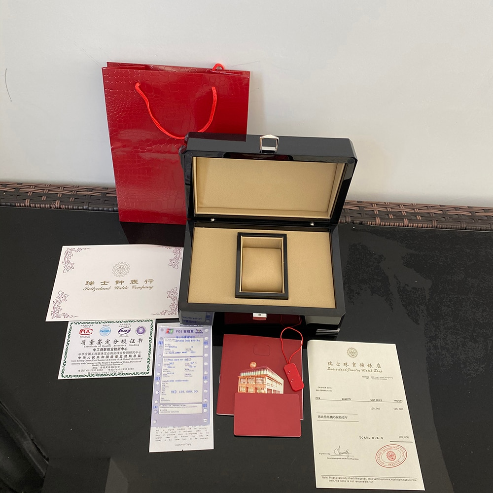 High Quality  Nautilus Watch Original Box Papers Card Wood Boxes Handbag For 5167 5711 5980  Watches Box