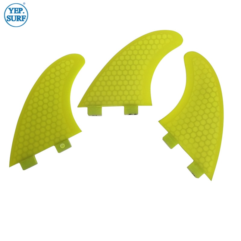 Surfing Double Tabs Fins S Size Honeycomb Fibreglass Fin Yellow color Surf Quilhas Double Tabs S Surf Fins free shipping surfboard fins high quality honeycomb future fins in surfing quilhas fins
