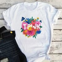 vintage shirts women aesthetic clothes 2021 print tops vintage kawaii graphic tees girls fashion cartoon tshirts xl
