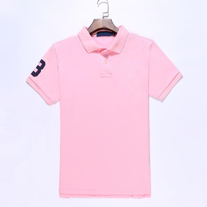 Высокое качество Hombre большой пони поло топ Для мужчин рубашка-регби лошадь короткий рукав мужские рубашки мужские Вышивка бренд