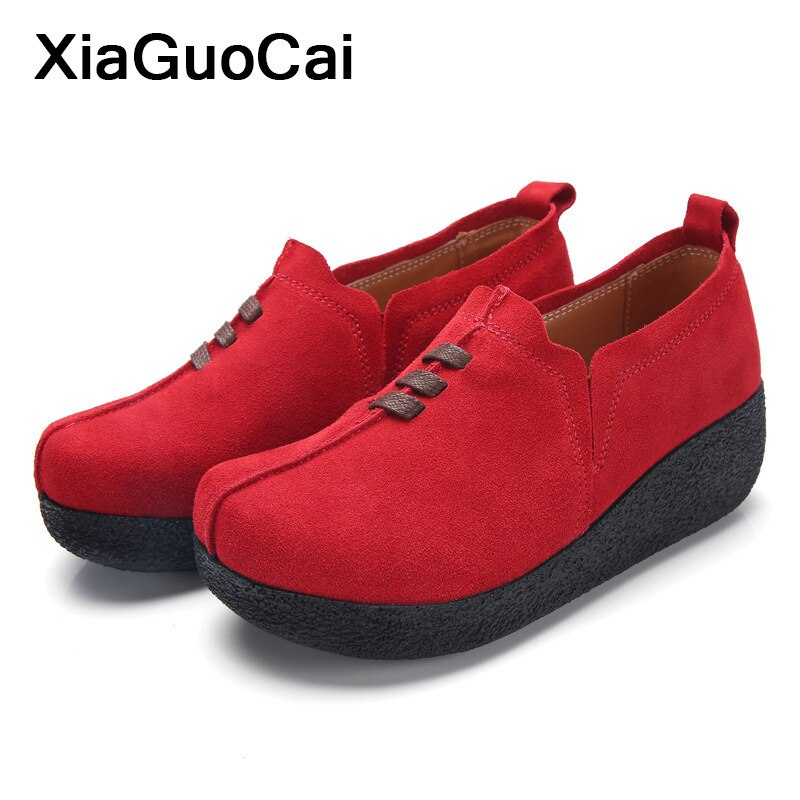 Woman Casual Shoes Flat Platform Spring Autumn Female Footwear Slip-on Loafers Thick Bottom Fashion Women Flats Dropshipping lucyever spring autumn platform slip on women graffiti casual shoes mixed colors flats comfortable chaussure femme zapatos mujer