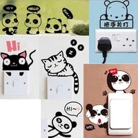 creative switch stickers sweet lovely wall stickers unique home decoration accessories nice looking door window decoration