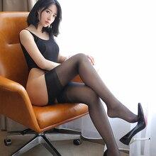 Women Sexy Nonslip Convenient Stockings Racy Sexy Female Black Mesh Women Thigh High Stockings Nightclubs Shiny Pantyhose