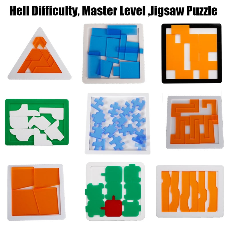 mind games Jigsaw Puzzle 29 Blank Plastic Hard Complex las logic IQ Mind Brain Teaser Shapes games Puzzle Toy For Adults Kids children