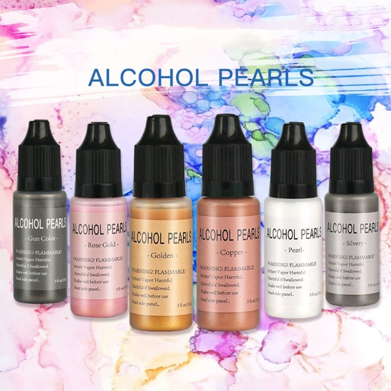 15ml Metallic Alcohol Pigment Resin Dye Alcohol-Based Ink Concentrated Paint Epoxy Resin Colorant Resin Casting Crafts
