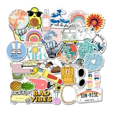 35Pcs Pack Simple Girl Cute Cartoon Vsco Sticker Decal DIY for Laptop Luggage Guaitar Skateboard Notebook Waterproof Stickers