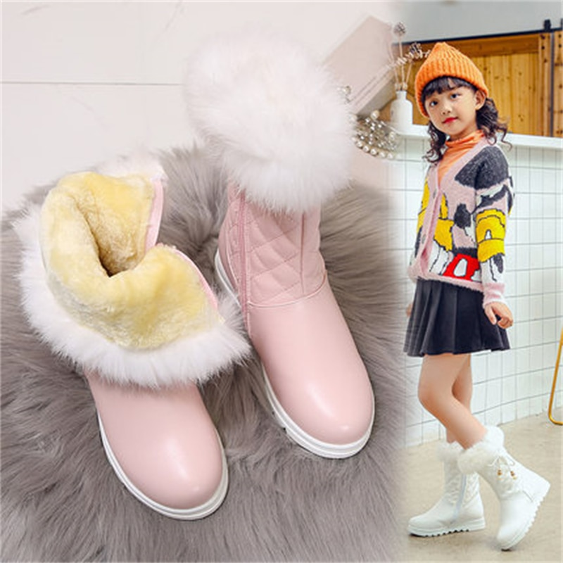 new-children-baby-mid-calf-high-boots-princess-girls-butterfly-knot-warm-thick-plush-toddler-student-kids-winter-shoes-02b