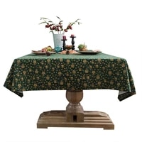 christmas green tablecloth red small floral printed cotton and linen nordic dining tablecloth cover cloth coffee table