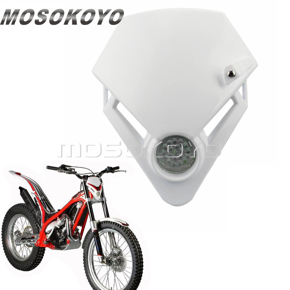 Faro de motocrós para motocicleta, luz LED blanca para moto de prueba...