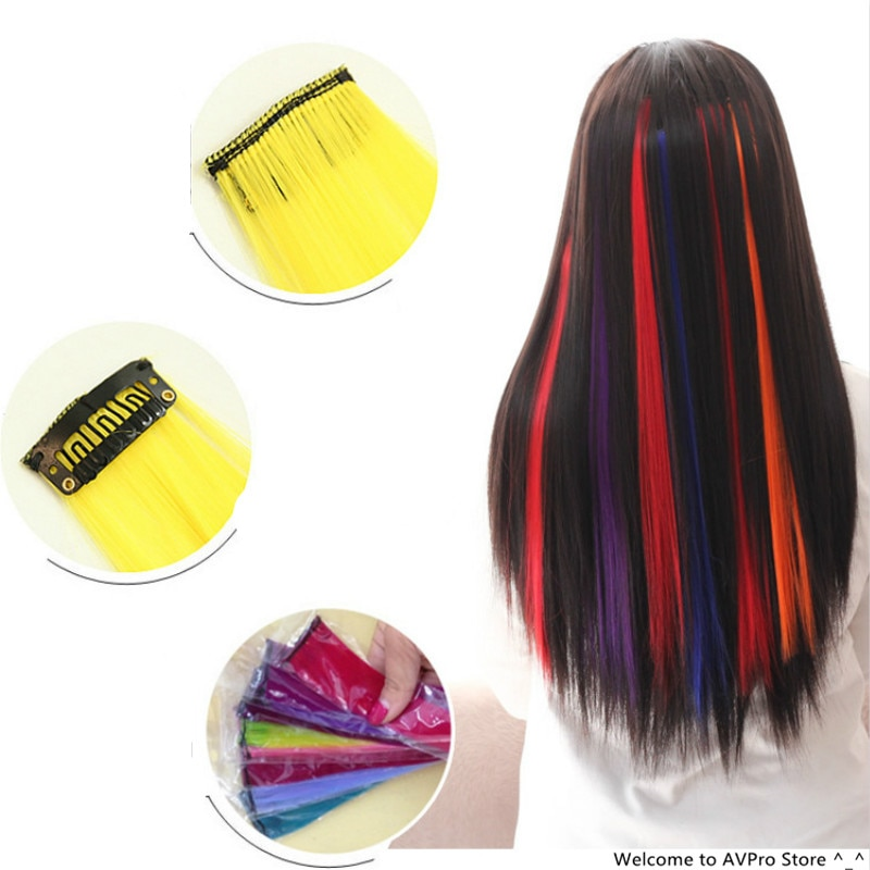 55cm Colored Long Straight Hairpiece Hair Styling Tools Weave Braid Hair Braider Bun Maker Hair Roller DIY Braiding Accessories
