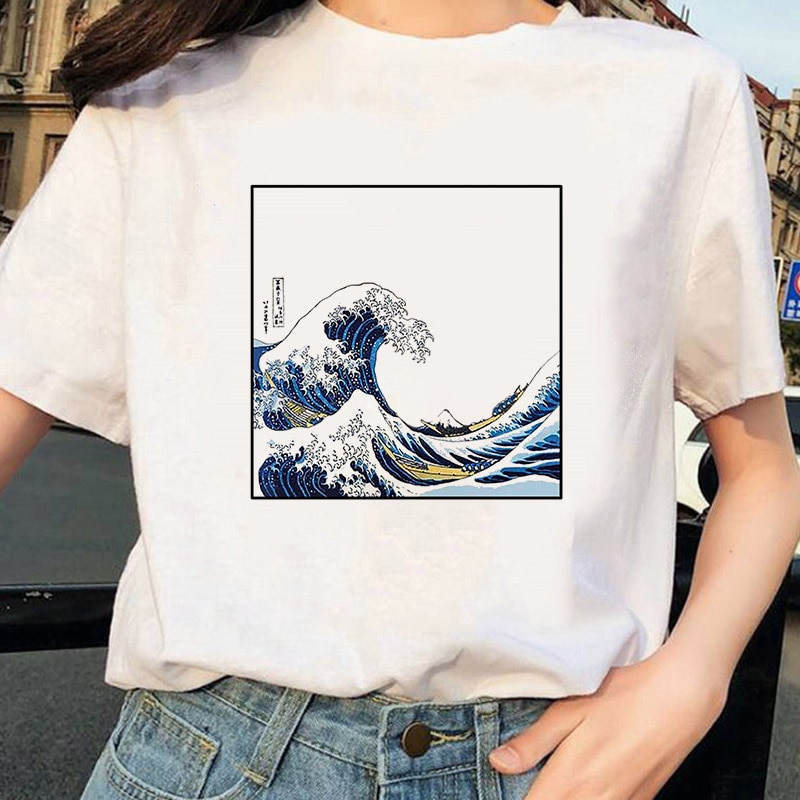 Женская футболка Tumblr 90s And So Is Ocean Fashion, милая Летняя Повседневная футболка, 2020