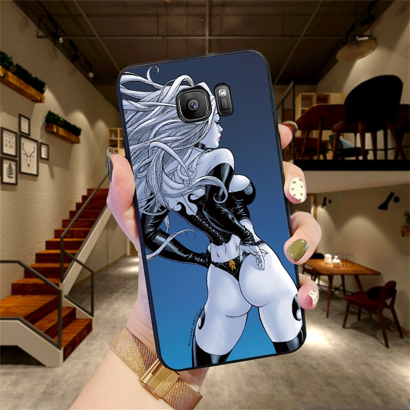 Para Samsung A50 60 70 40 20 A10 teléfono caso Anime sexy diosa de la muerte de A3 5 7 8 9 6PLUS TPU suave para J6 M40