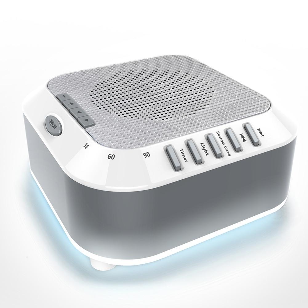 Máquina de sonido Natural para dormir, luz nocturna de oficina, Lullaby, ruido blanco, lluvia de bebé, viaje marítimo para niños, relajación, calmante