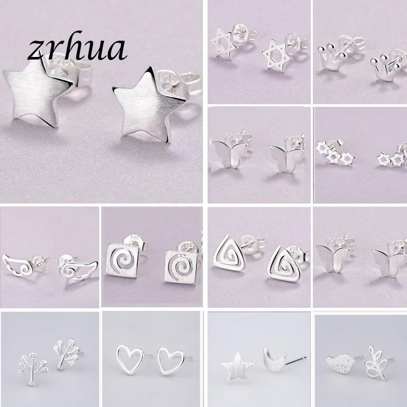 2019 Newest 925 Silver Needle Women's Jewelry Fashion Cute Chic Stud Earrings for School Girls Kids