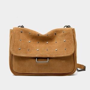 Ladies New Rivet Stray Shoulder Bag Large Capacity Lady's Chain Crossbody Bag Luxury Leather Women Designer Purses and Handbag
