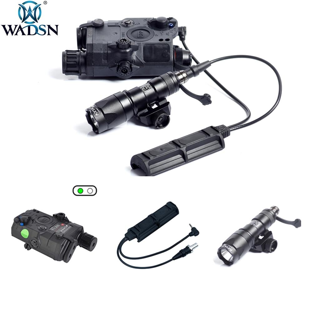 WADSN Weapon LA-5C UHP LED LA5 PEQ-15 Green IR Laser M300 Mini Flahslight with Dual Switch 2 Plug Military Pressure Pad Switch