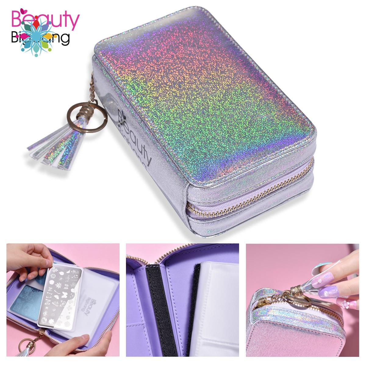 Multifunctionele Nail Art Stempelen Plaat Houder Tas Stamper Bag Organizer Nagellak Make-Up Tas