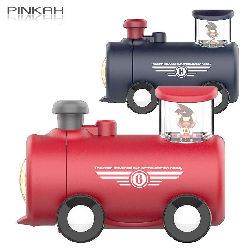 Pinkah-قارورة فراغ للأطفال ، 290 مللي ، زجاجة ماء على شكل قطار كرتوني ، محمولة مانعة للتسرب ، ترمس مانع للتسرب ، هدية إبداعية لطيفة للأطفال