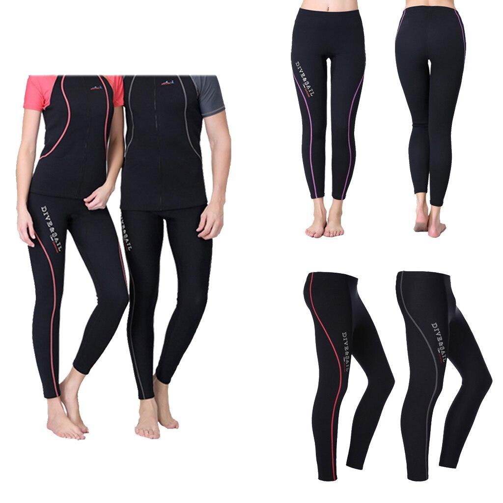 Calça de neoprene para mergulho unissex, calças de nado para inverno, mergulho, nado, surf, 1.5mm