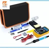 smart digital multimeter soldering iron set welding tools kit 19 in 1 with 60w adjustable temperature electric soldering iron