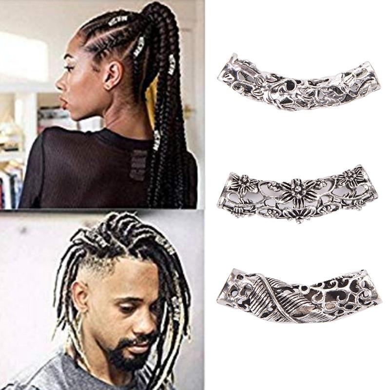 Dreadlock Beads Hole Braid Cuffs Clip Beads Unadjustable Hair Rings DIY For Dreadlocks Jewelry Makin