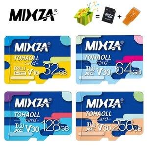 Карта памяти MIXZA, 256 ГБ, 128 ГБ, 64 ГБ, U3, 80 МБ/с./с, 32 ГБ, Micro sd карта, Class10, флеш-карта, карта памяти Microsd TF/sd, карта s для планшета