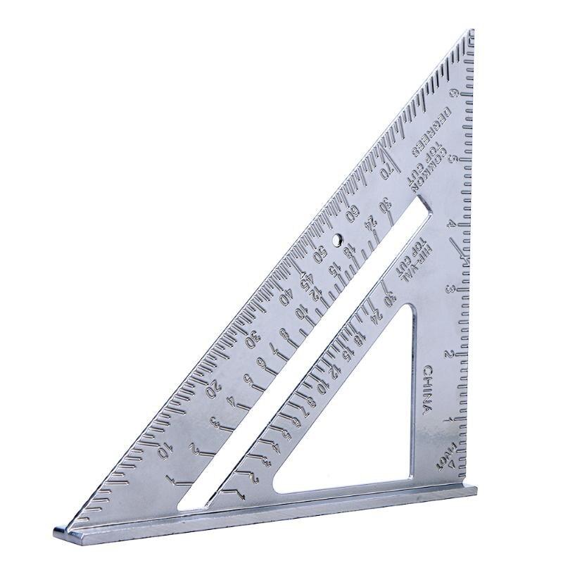 New Triangle Square Ruler Aluminum Alloy Speed Protractor Miter For Carpenter Tri-square Line Scriber Saw Guide Measurement Tool