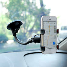 Holder Auto Black Rearview Mirror 360 degree Rotation GPS Mobile Phone Holder Stand For Xiaomi IPhone Samsung